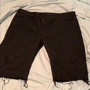 Slim fit smoke rise jean shorts